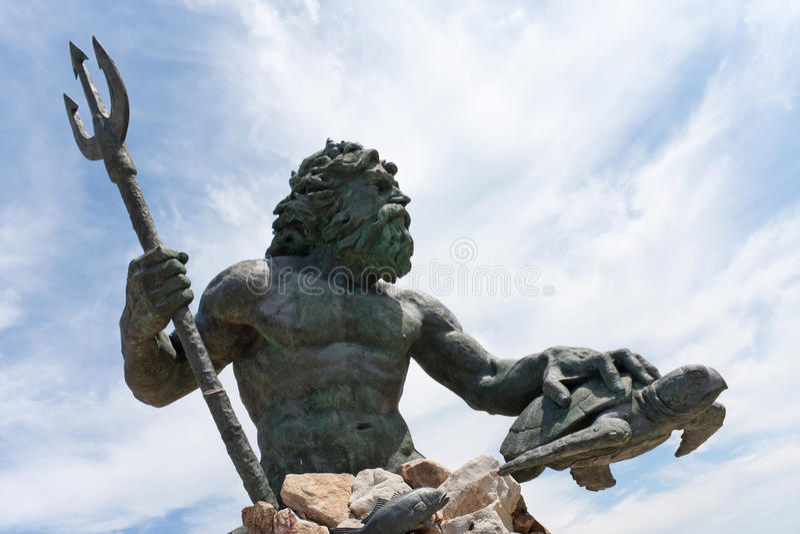 Estatua de Virginia Beach Netpune imagen de archivo libre de regalías