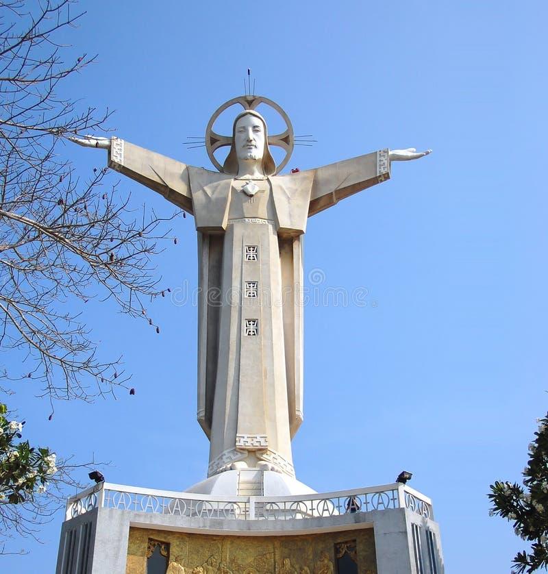Estatua de Vung Tau Vietnam Jesús imagenes de archivo