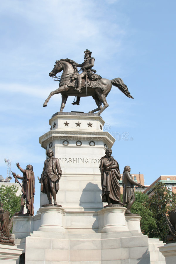 Estatua de Washington fotos de archivo