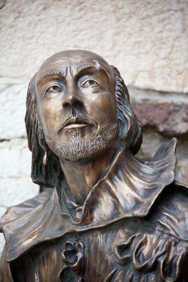 Estatua de William Shakespeare imagenes de archivo