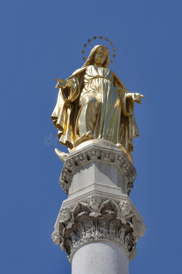 Estatua de Zagreb imagen de archivo