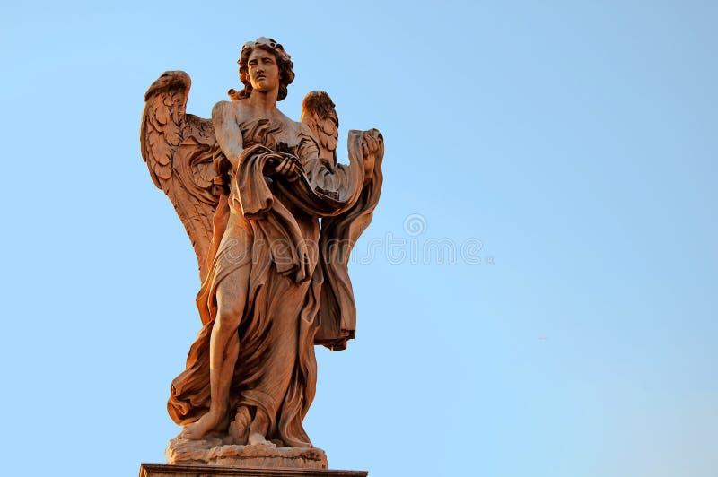 Estatua del ángel en Roma fotos de archivo libres de regalías