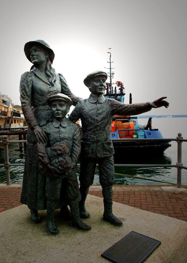 Estatua del adiós de Cobh imagen de archivo libre de regalías