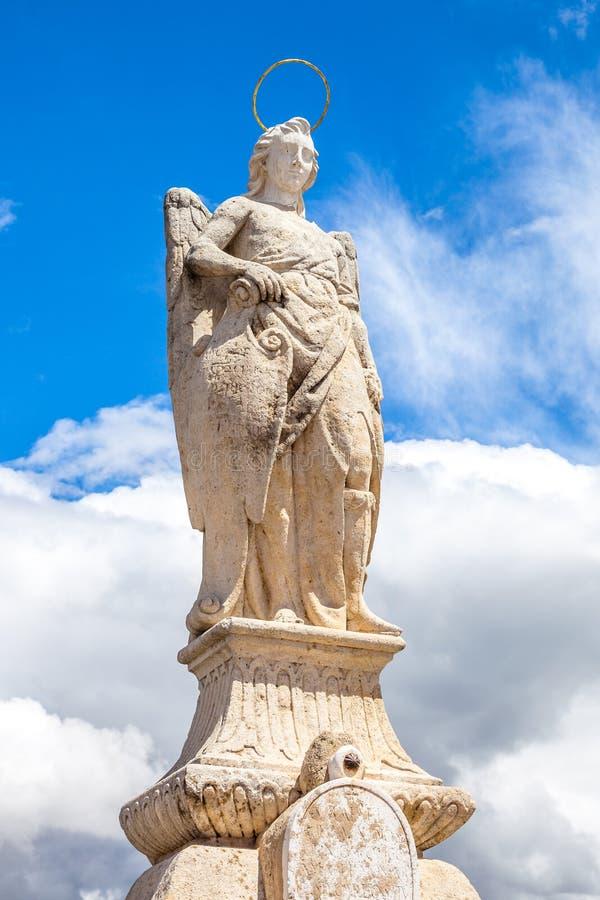 Estatua del arcángel de San Rafael foto de archivo libre de regalías