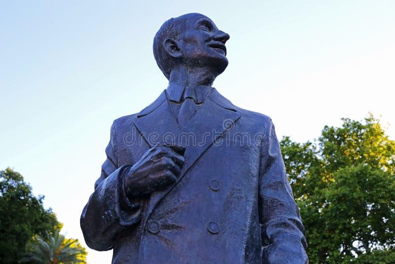Estatua del arquitecto Anival Gonzalez fotografía de archivo libre de regalías