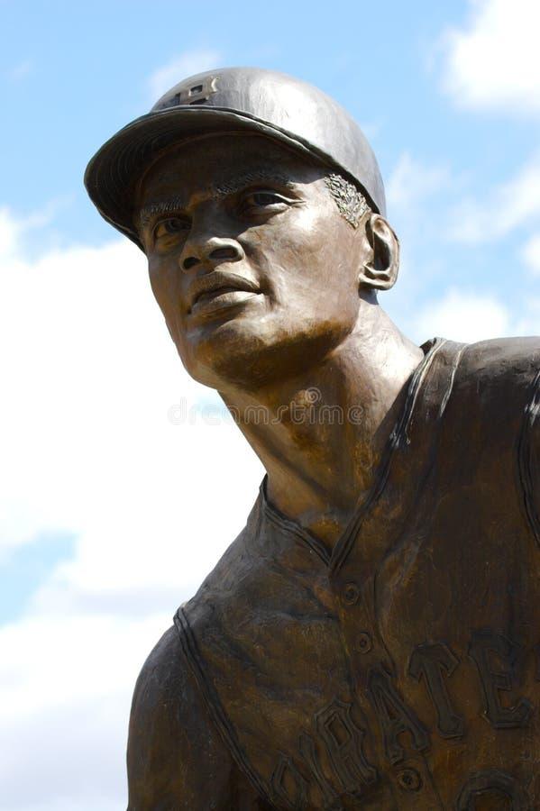 Estatua del béisbol imagen de archivo libre de regalías
