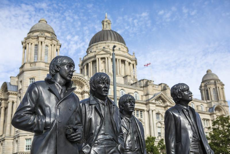 Estatua del Beatles en Liverpool fotos de archivo libres de regalías