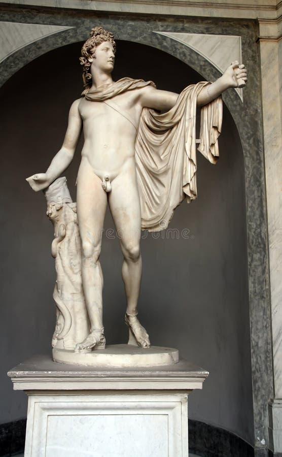 Estatua del belvedere de Apolo fotografía de archivo libre de regalías