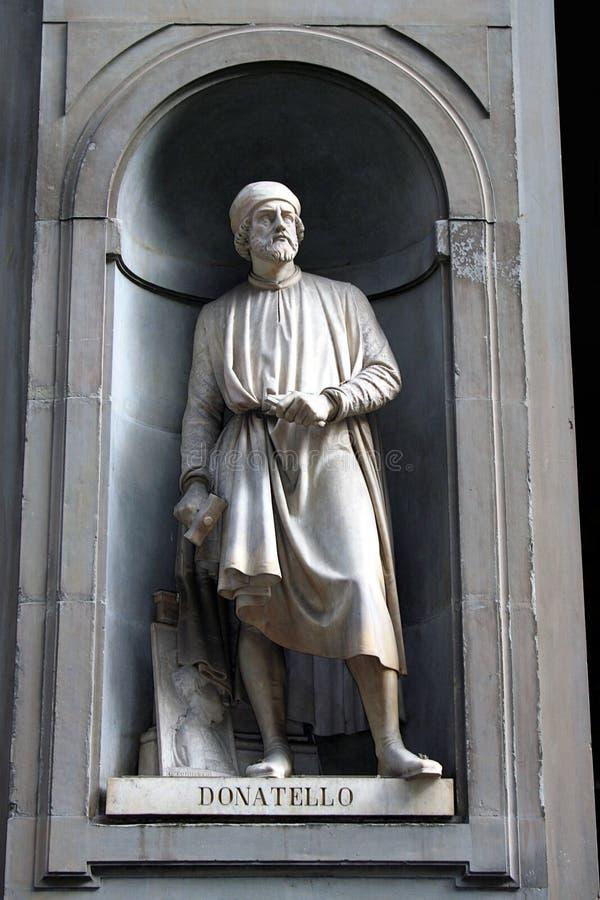 Estatua del callejón de Uffizi imagen de archivo