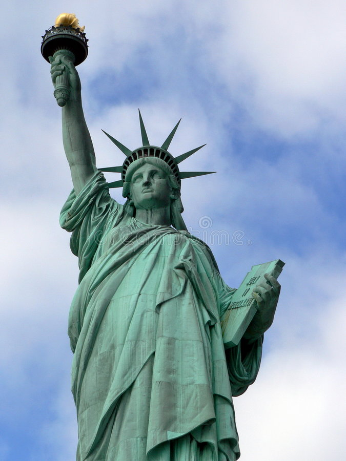 Estatua del detalle de la libertad fotografía de archivo