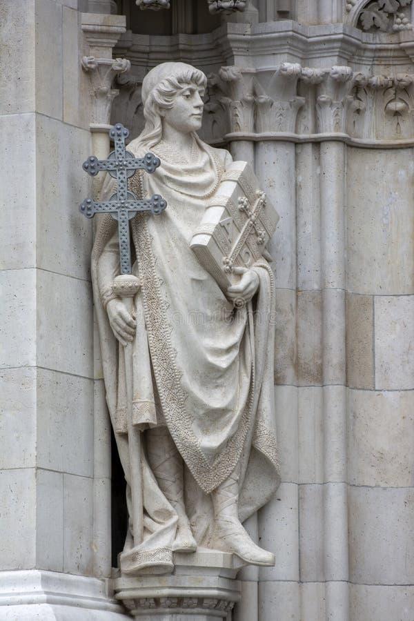 Estatua del edificio del Parlamento Húngaro, Budapest, Hungría fotografía de archivo