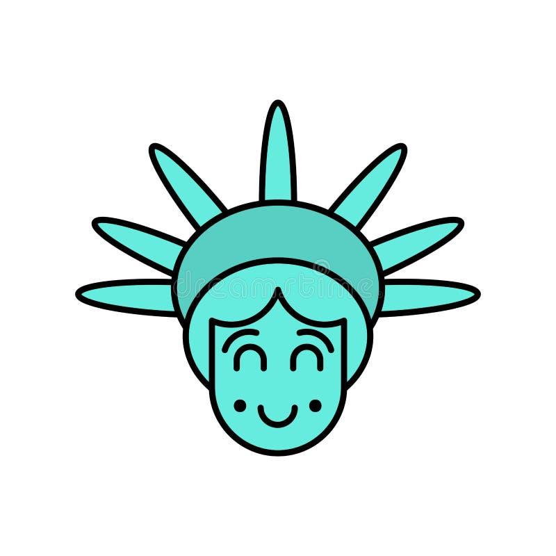 Estatua Del Emoji De La Cara De La Libertad América De Visita ... icono