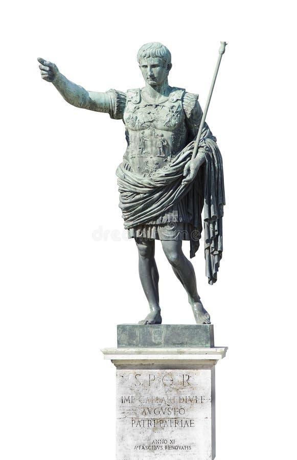 Estatua del emperador de Augustus imagenes de archivo