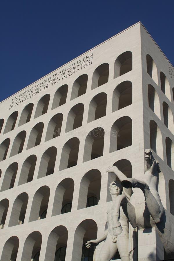 Estatua del EUR - Roma fotografía de archivo libre de regalías