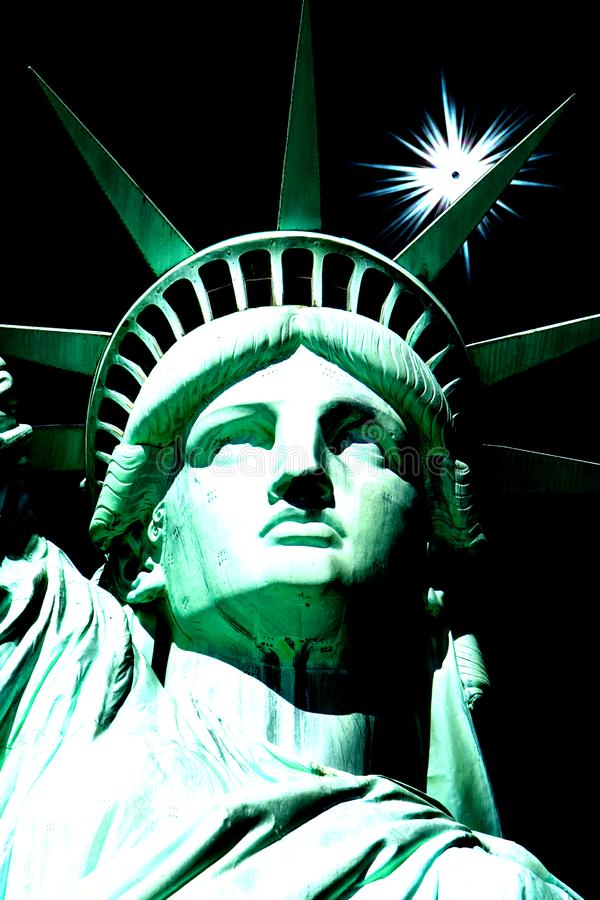 Estatua de Liberty Abstract fotos de archivo