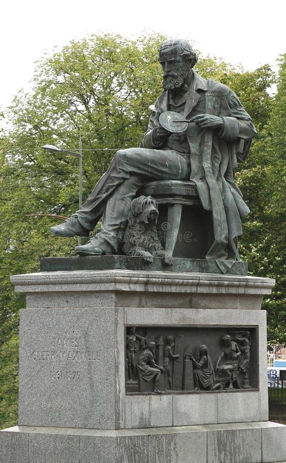 Estatua del físico James Clerk Maxwell Edinburgh Scotland foto de archivo libre de regalías