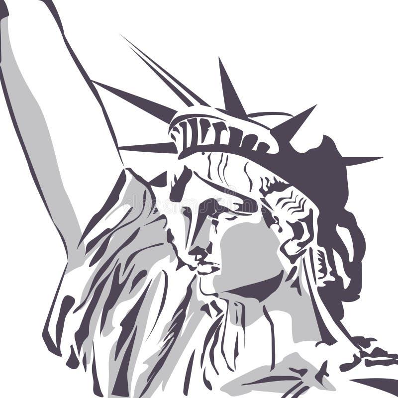 Estatua del fragmento de la libertad stock de ilustración