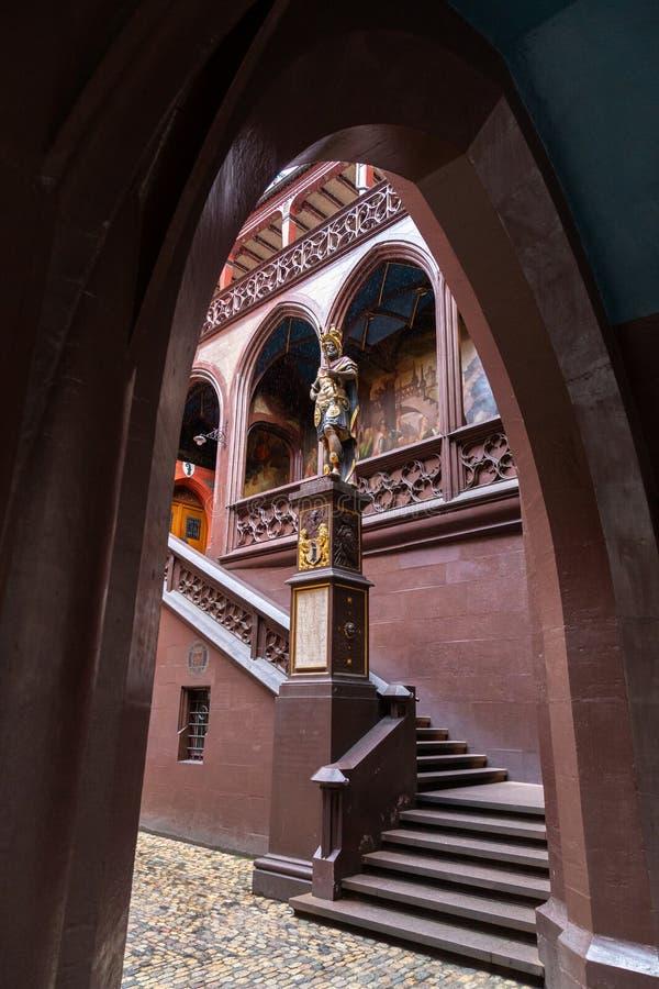 Estatua del fundador de Basilea, Suiza fotos de archivo libres de regalías