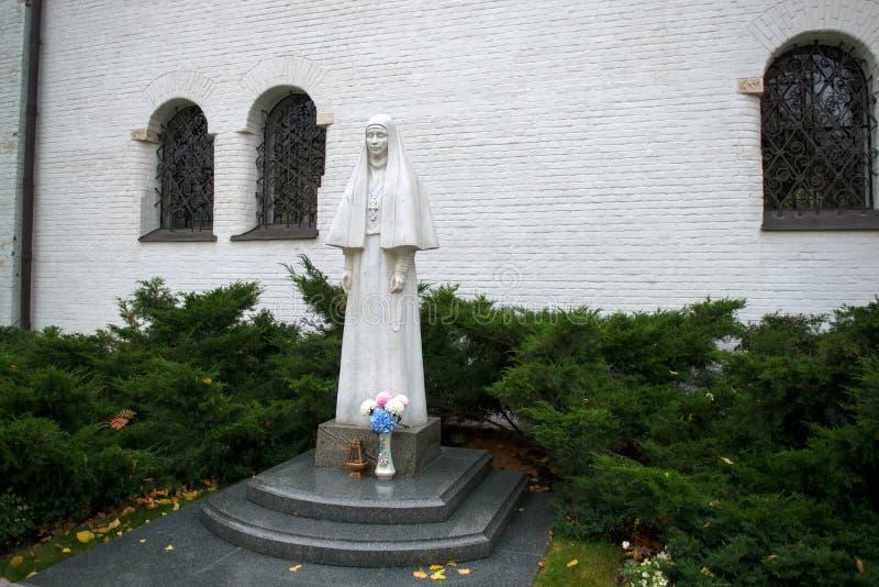 Estatua del fundador de la grande duquesa Elizabeth Romanova fotos de archivo