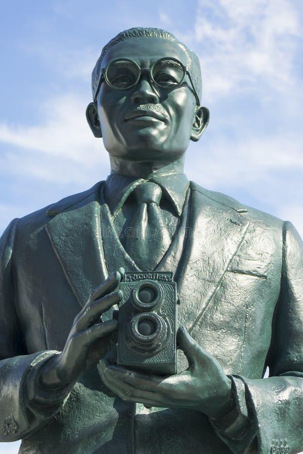 Estatua del fundador del grupo de Ricoh San-ai, Kiyoshi Ichimura imágenes de archivo libres de regalías