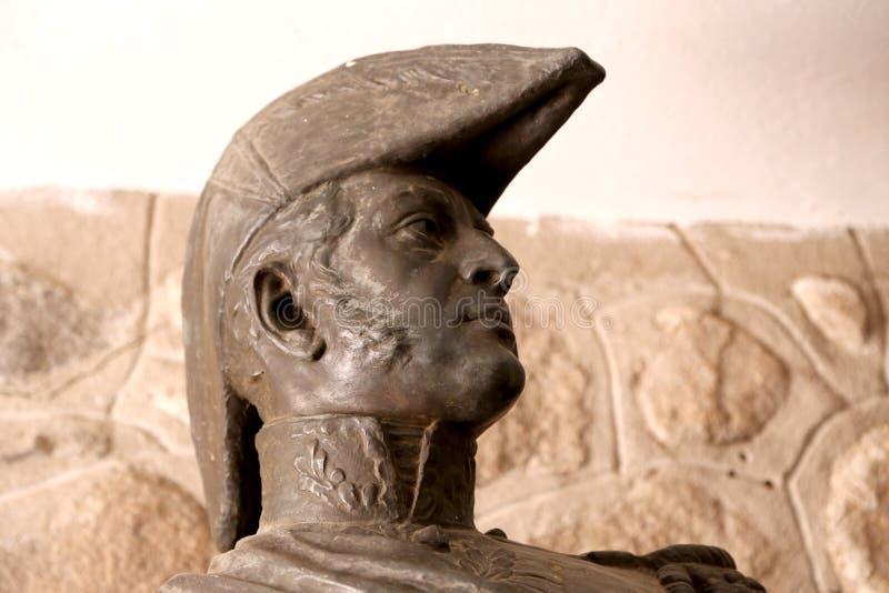 Estatua del General José de San Martín Héroe argentino Libertador que cruzó la cordillera de los Andes fotos de archivo