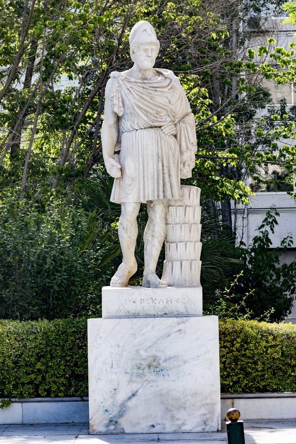 Estatua del griego cl?sico Pericles fotografía de archivo