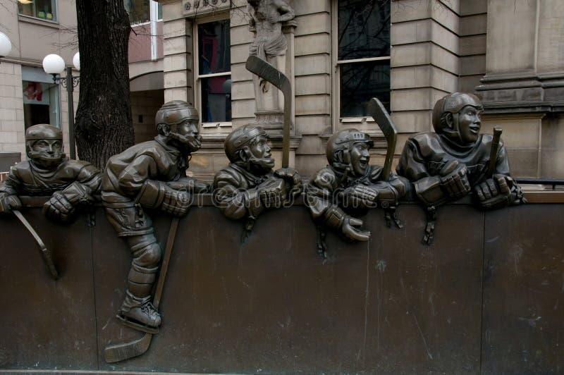 Estatua del hockey - Toronto - Canadá fotos de archivo libres de regalías