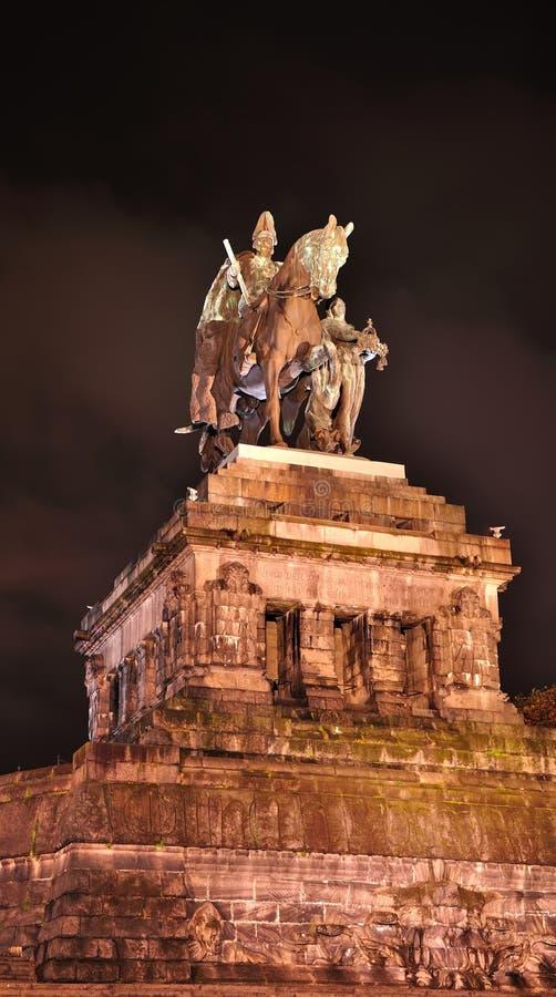 Estatua del imperator Wilhelm imagen de archivo libre de regalías