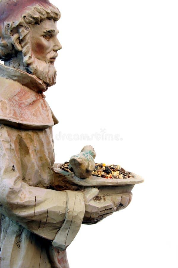 Estatua del jardín del St. Francisco fotos de archivo