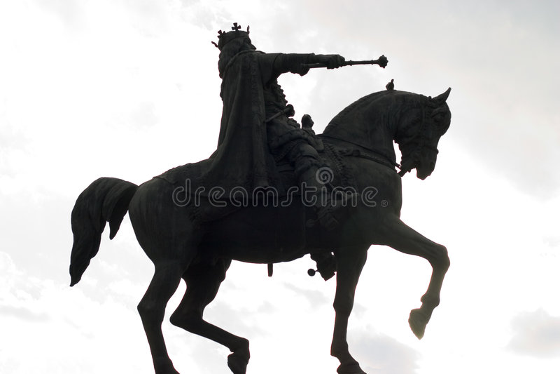 Estatua Del Jinete Del Caballo Fotografía de archivo