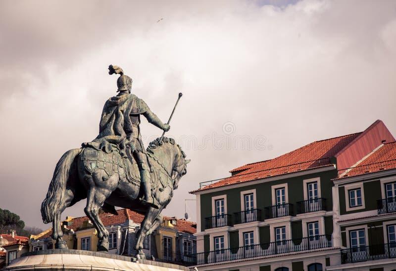 Estatua del jinete y del caballo imágenes de archivo libres de regalías
