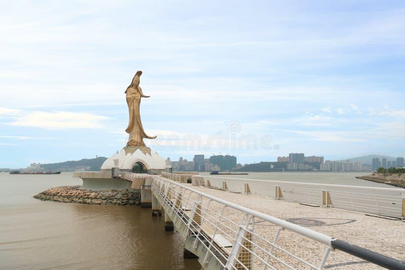 Estatua del kun soy la diosa de la misericordia y compasión en Macao foto de archivo libre de regalías