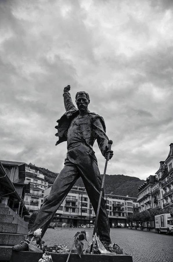 Estatua del mercurio de Freddie imagen de archivo