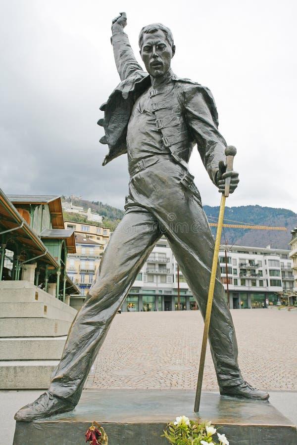 Estatua del Mercury de Freddy foto de archivo