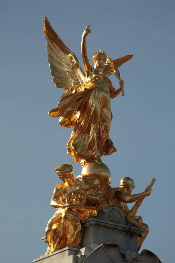 Estatua del oro de Buckingham fotografía de archivo