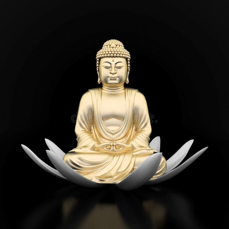 Estatua del oro de Buddha libre illustration