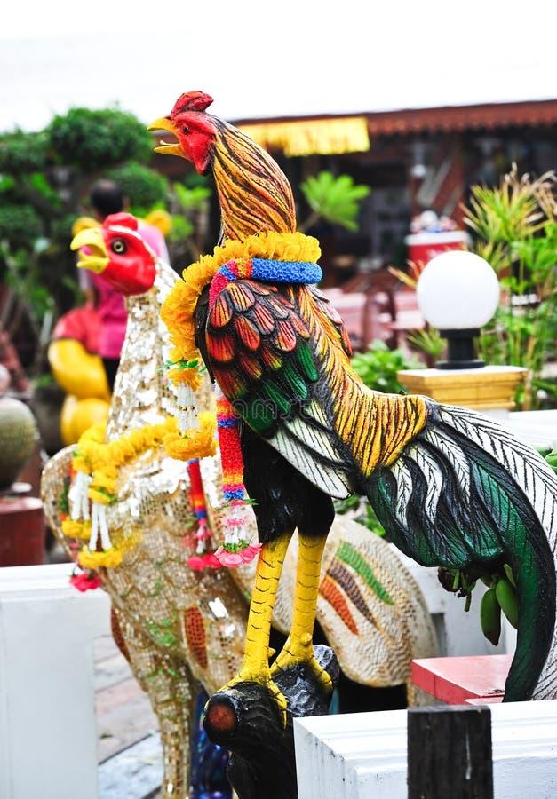 Estatua del pollo fotografía de archivo