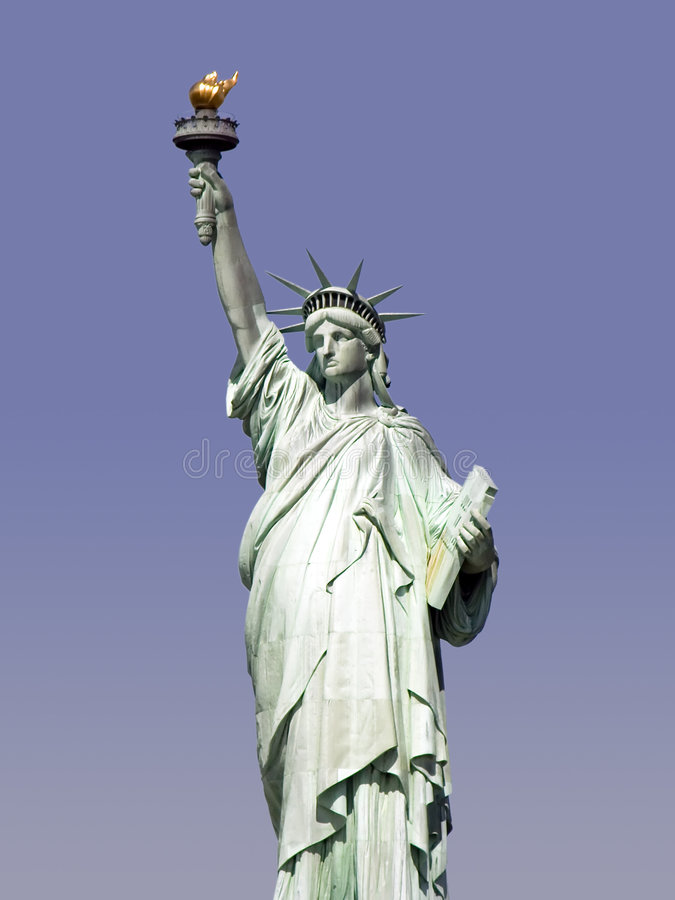 Estatua del primer de la libertad foto de archivo