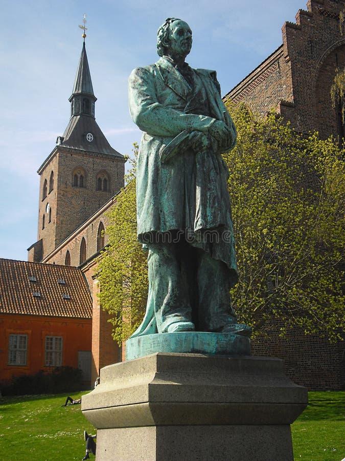 Estatua del primer del escritor H del cuento de hadas C andersen imágenes de archivo libres de regalías