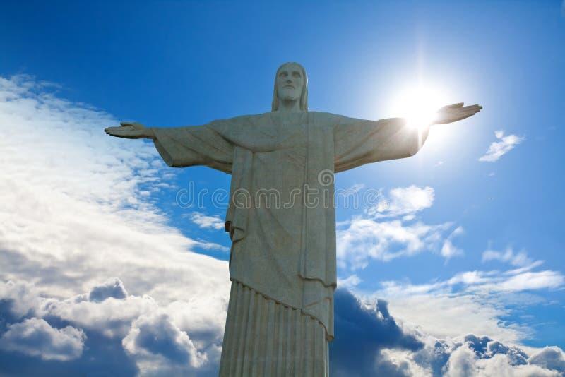 Estatua del redentor de Cristo fotos de archivo