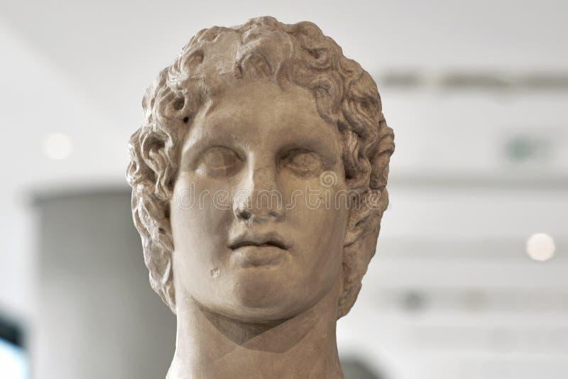 Estatua del retrato de Alexander el grande fotos de archivo libres de regalías