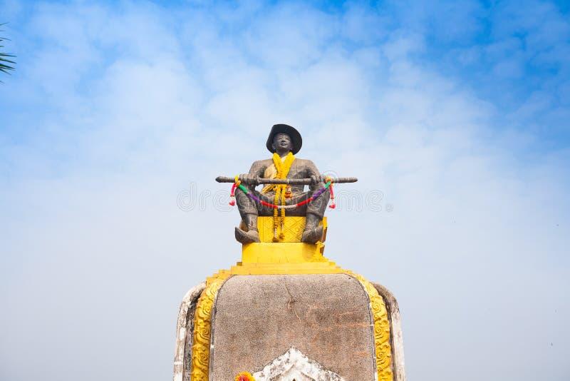 Estatua del rey Chao Anouvong, el monarca pasado del Lao K fotografía de archivo libre de regalías