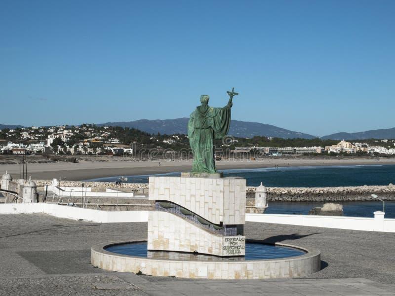 Estatua del sao Goncalo en Lagos foto de archivo