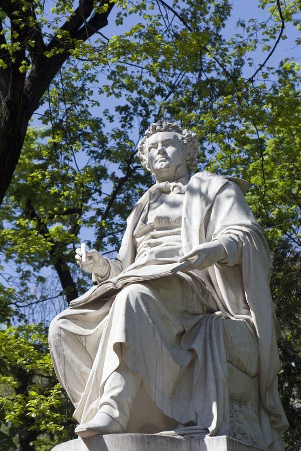 Estatua del schubert de Francisco en Viena foto de archivo libre de regalías