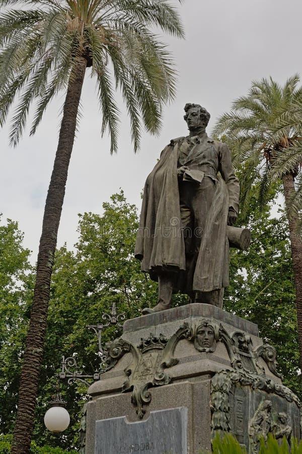 Estatua del Seneca el más joven de Amadeo Ruiz Olmos en Córdoba foto de archivo libre de regalías