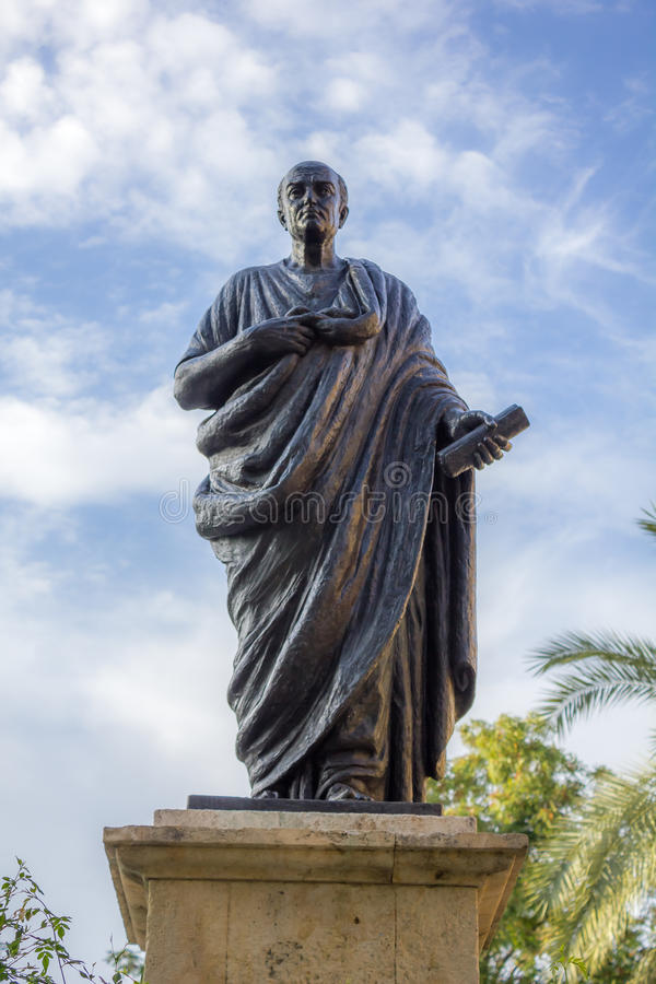 Estatua del Seneca en Córdoba foto de archivo