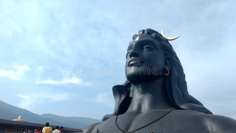 Estatua del shiva de Adiyogi del Tamil Nadu la India de Coimbatore imagenes de archivo