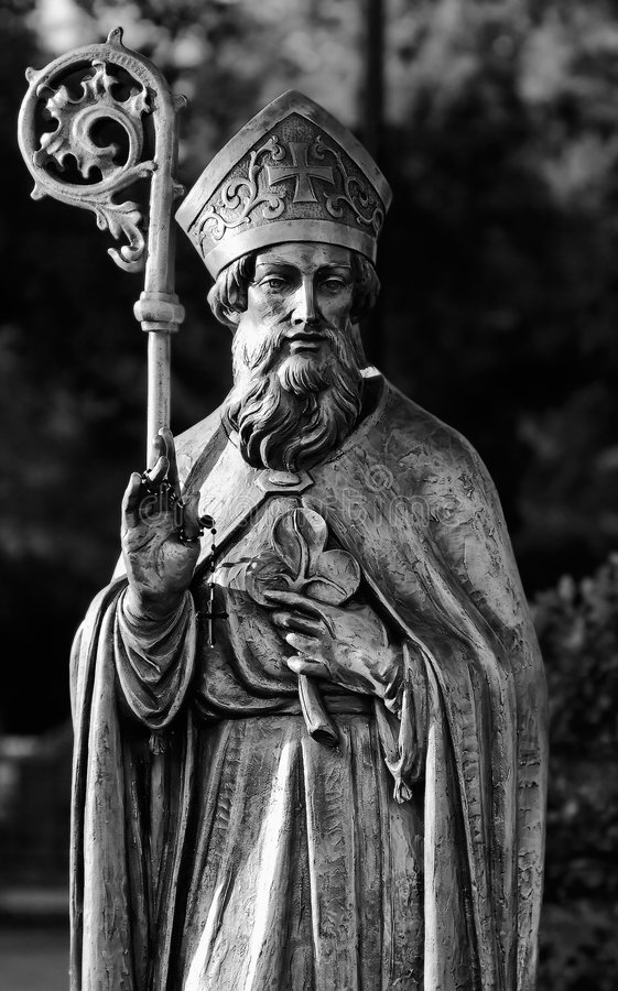 Estatua del St. Patrick fotos de archivo libres de regalías