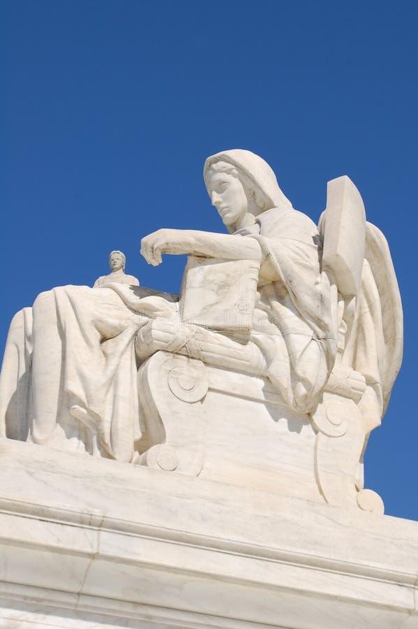 Estatua del Tribunal Supremo de los E.E.U.U. foto de archivo libre de regalías