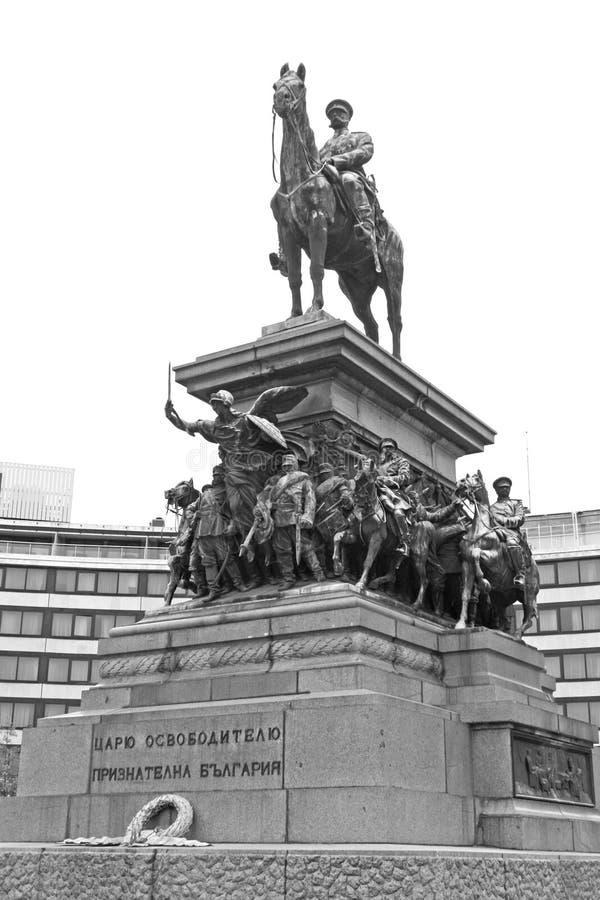 Estatua del Tsar Alexander II fotografía de archivo